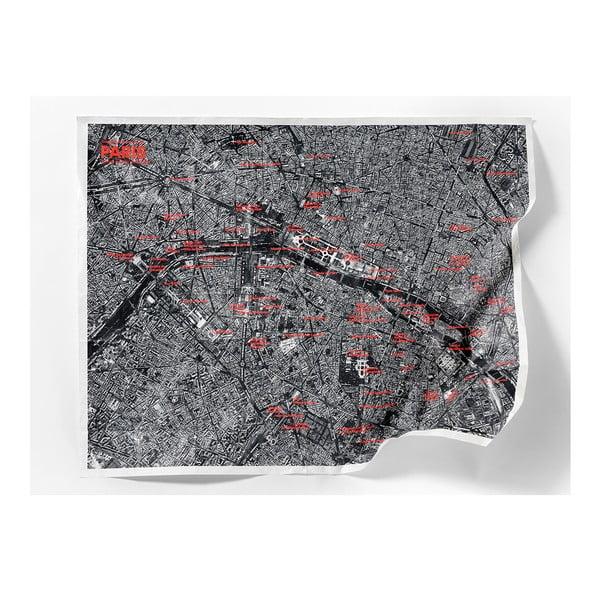 Zmačkaná cestovní mapa ze satelitu Amsterdam