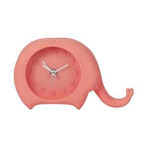 Růžové hodiny s budíkem Just 4 Kids Peach Elephant