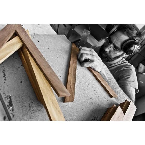 Knižní police z dubového dřeva das kleine b b1, výška22cm