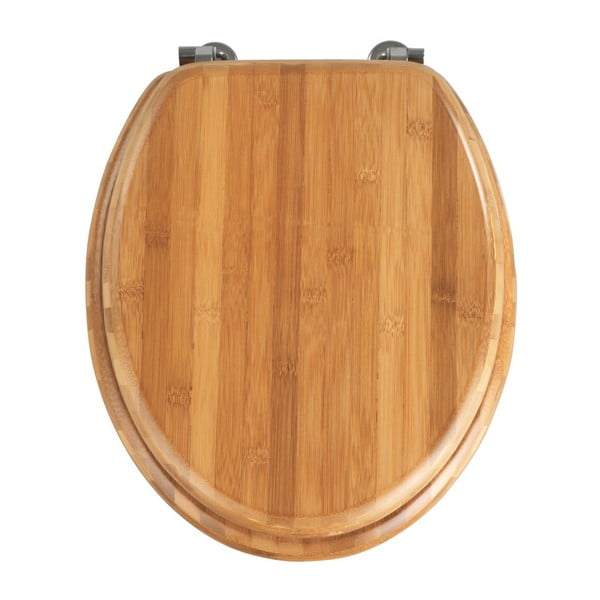 Deska sedesowa z bambusu Wenko Bamboo, 42,5x37 cm