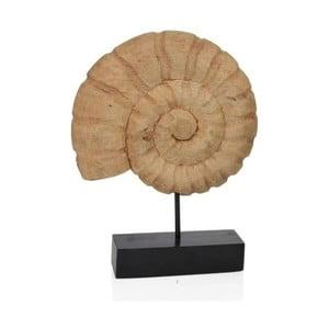 Dřevěná soška Mušle, 29x8x38 cm