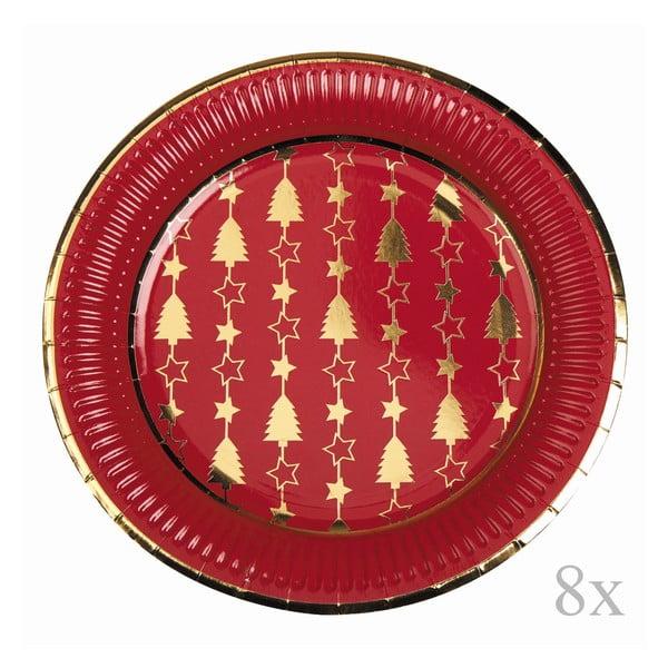 Sada 8 papierových tanierov Neviti Dazzling Christmas