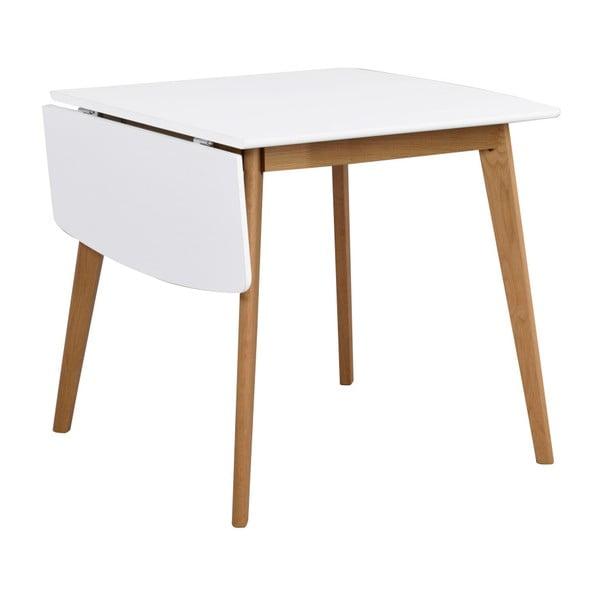Jídelní stůl s konstrukcí z dubového dřeva se sklápěcí deskou Rowico Olivia, délka 80+30cm