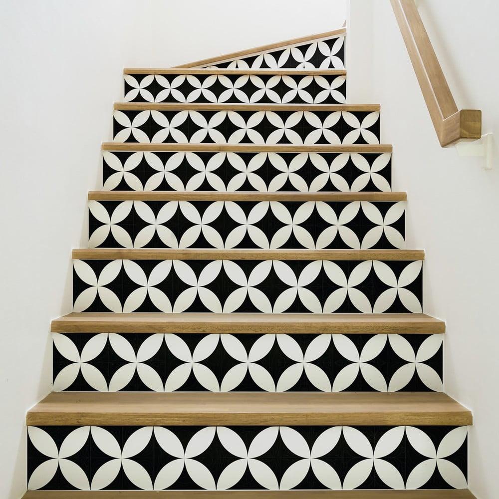 Sada 2 samolepek na schody Ambiance Alvaro, 15 x 105 cm