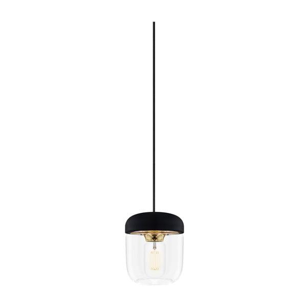 Černé stínidlo s objímkou zlaté barvy VITA Copenhagen Acorn, Ø14cm