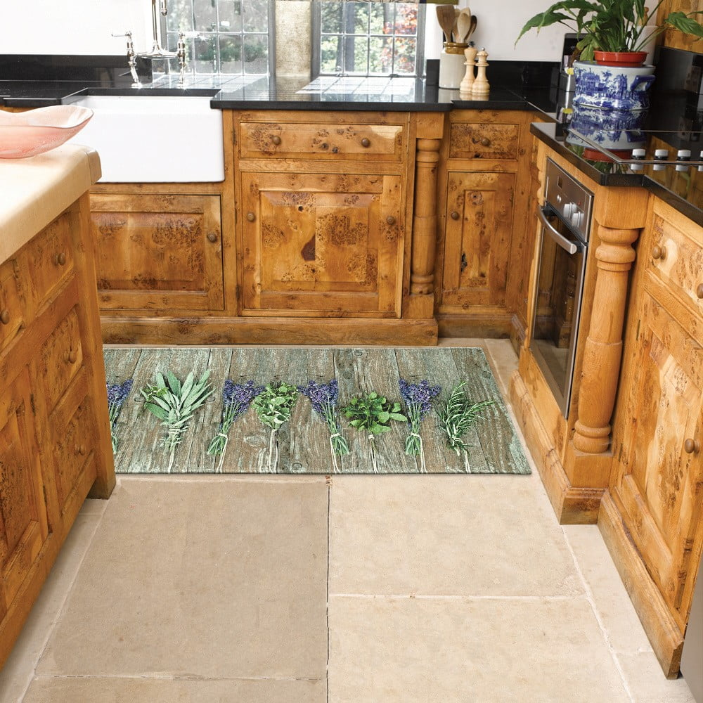 Vysoce odolný kuchyňský koberec Webtappeti Lavender, 60 x 140 cm