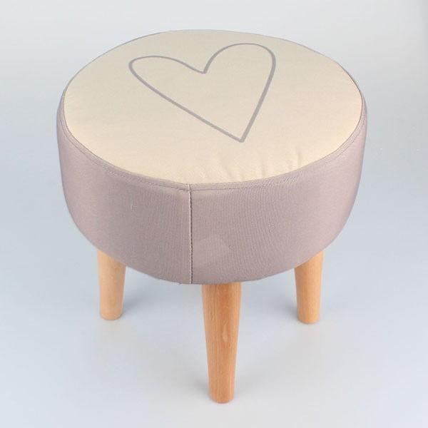 Stolička Dakls Heart, ⌀ 35 cm