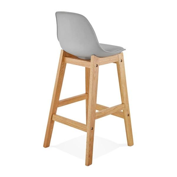 Šedá barová židle Kokoon Elody, výška86,5cm