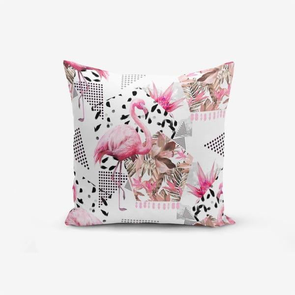 Față de pernă cu amestec din bumbac Minimalist Cushion Covers Bat Petegi Flamingo, 45 x 45 cm