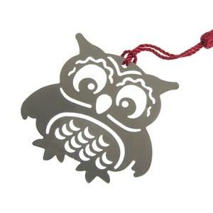 Kovová záložka do knihy ve tvaru sovy Just Mustard Owl