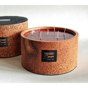 Palmová svíčka Palm Legno s vůní exotického ovoce, 240 hodin hoření