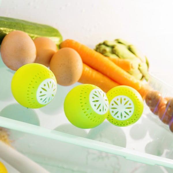 Sada 3 protizápachových guľôčok do chladničky InnovaGoods