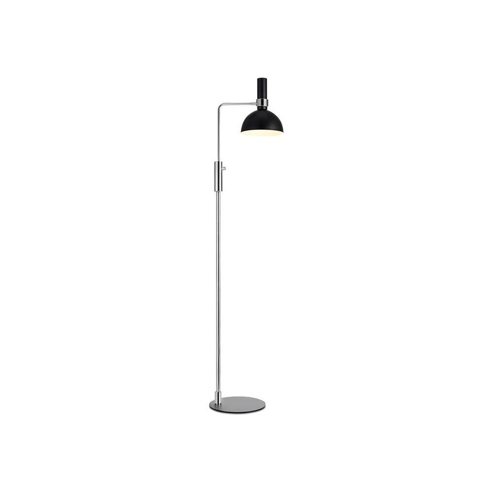 Stojací lampa v černo-stříbrné barvě Markslöjd Larry