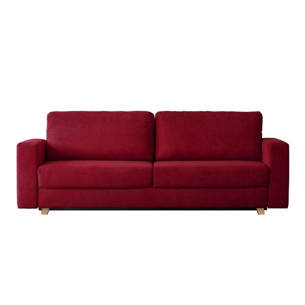 Červená trojmístná rozkládací pohovka Kooko Home Soul