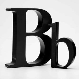 """Malé """"b"""" 13x8 cm, černá"""