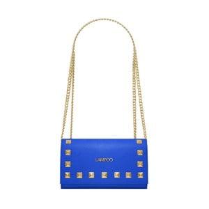 Modrá kožená kabelka Lampoo Luna