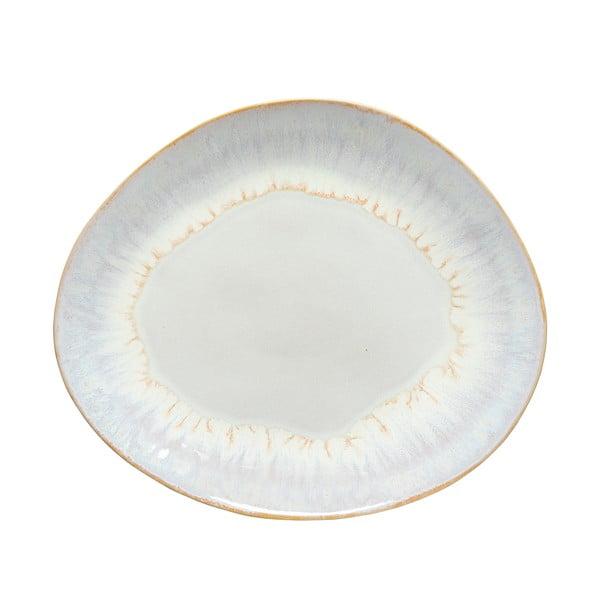 Farfurie ovală din gresie ceramică osta Nova Brisa, ⌀ 27cm, alb