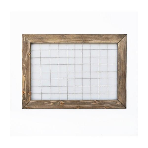 Nástěnka s dřevěným rámem, 70 x 50 cm