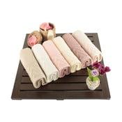 Sada 6 ručníků Kalp, 30x50cm