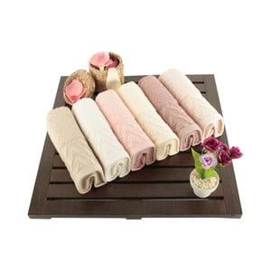 Sada 6 bavlněných ručníků Kalp,30x50cm