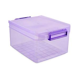 Fialový úložný box s víkem Ta-Tay Storage Box, 14 l