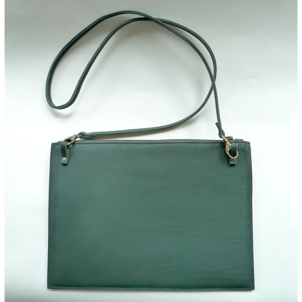Taška přes rameno/psaníčko Cut Out, zelené