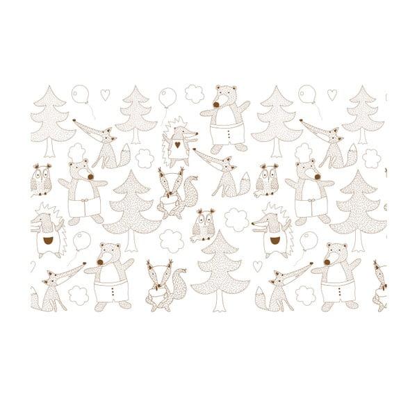 Vliesová tapeta Party in the woods 270x46.5 cm, tmavě hnědá