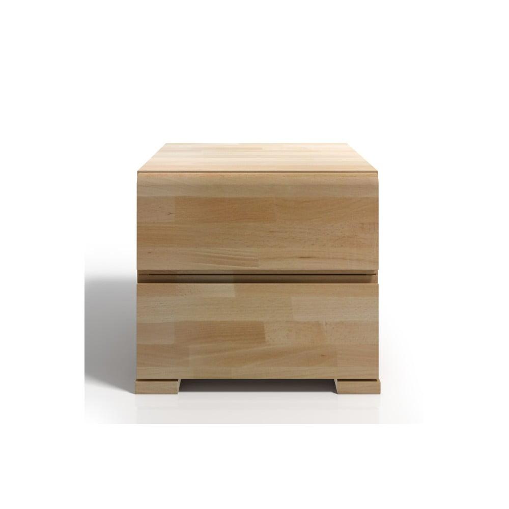 Noční stolek z bukového dřeva se 2 zásuvkami SKANDICA Vestre