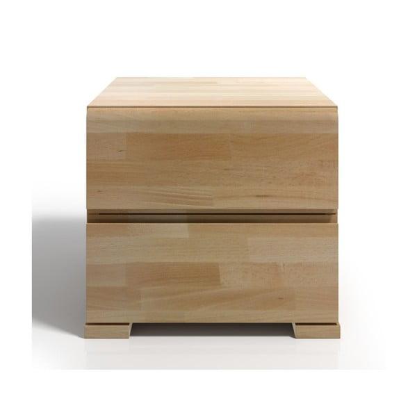 Noptieră din lemn de fag cu 2 sertare SKANDICA Vestre