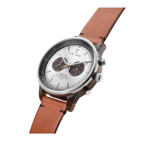Unisex hodinky s koženým řemínkem Triwa Havana Nevil