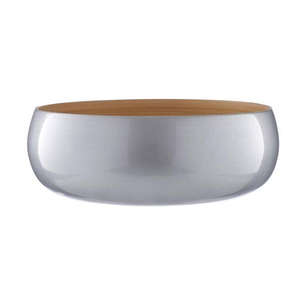 Bambusová miska ve stříbrné barvě Premier Housewares, ⌀ 30 cm