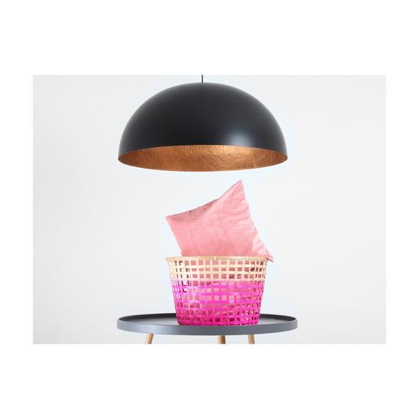 Černé závěsné svítidlo s detailem v měděné barvě Custom Form Lord, ø 90 cm