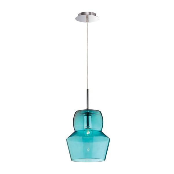Modré stropní svítidlo  Evergreen Lights Glass Light, 22 cm