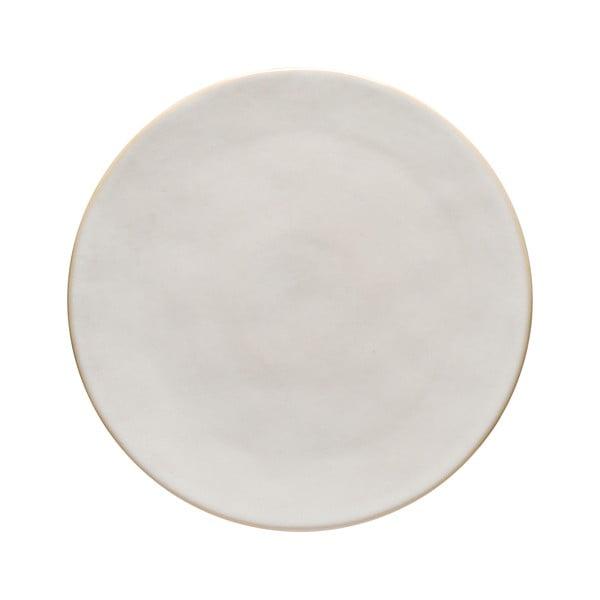 Biely kameninový podnos Costa Nova Roda, ⌀ 28 cm