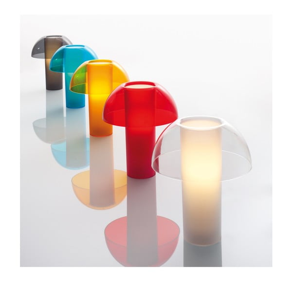 Stolní lampa Colette L003TA, transparentní modrá