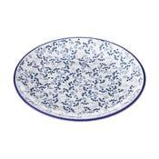 Modrobílý talíř Unimasa Meadow