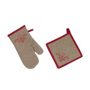 Kuchyňská rukavice a chňapka Antic Line Heart