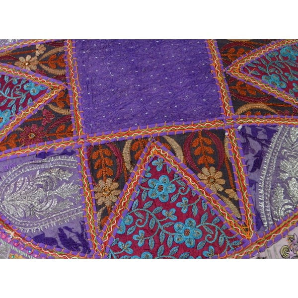 Ručně vyšívaný polštář Rajastan, fialový