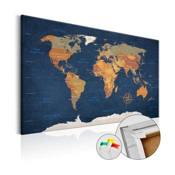 Hartă decorativă a lumii Bimago Ink Oceans 90 x 60 cm imagine