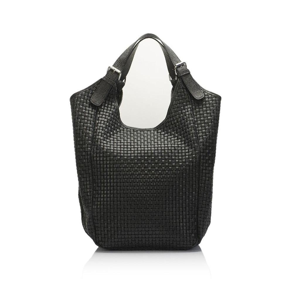 Černá kožená kabelka Giulia Massari Nidia