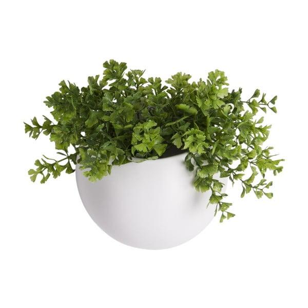 Matně bílý nástěnný keramický květináč PT LIVING Globe