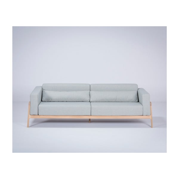 Fawn Plus kékesszürke kanapé tölgyfából, 240 cm - Gazzda
