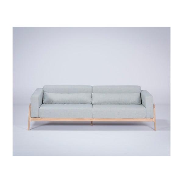 Modrosivá pohovka s konštrukciou z dubového dreva Gazzda Fawn, 240 cm