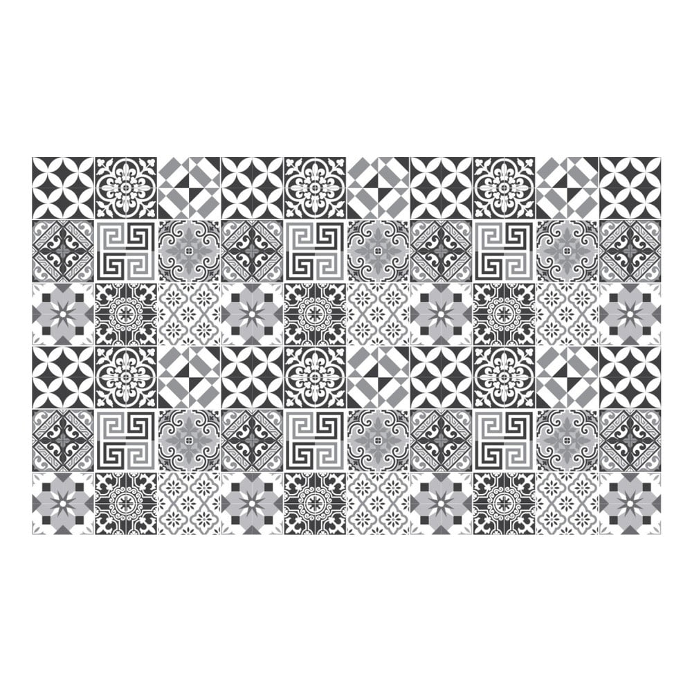 Sada 60 nástěnných samolepek Ambiance Elegant Tiles Shade of Gray, 10 x 10 cm