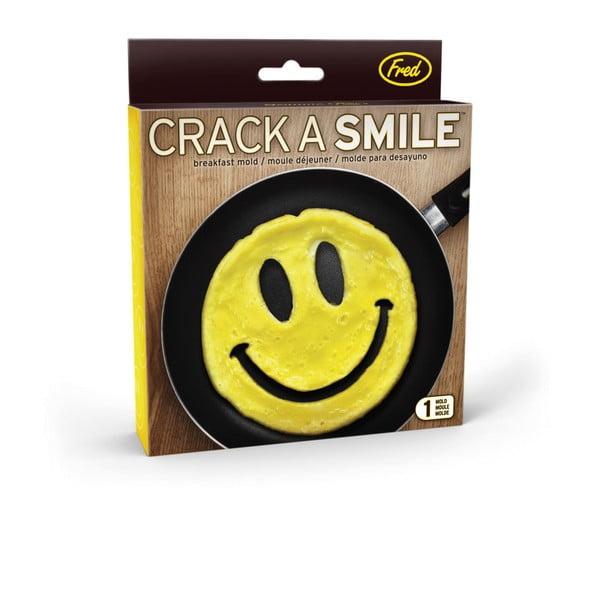 Žlutá snídaňová forma Fred & Friends Crack A Smile