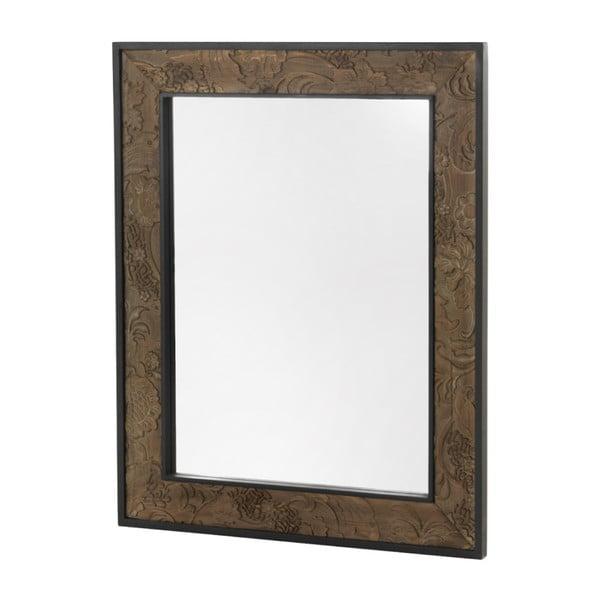 Nástěnné zrcadlo v dřevěném rámu Geese Fionne, 100x80cm