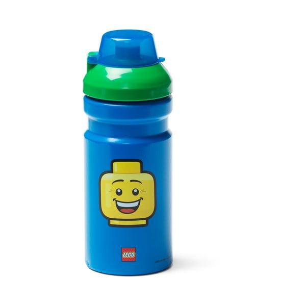 Iconic kék kulacs zöld kupakkal, 390 ml - LEGO®