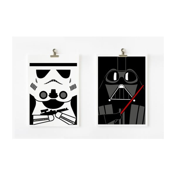 Plakáty A4 Star Wars - Darth Vader a Storm Trooper, 2 ks