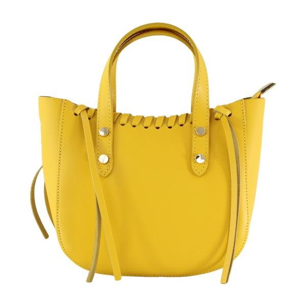 Žlutá kožená kabelka Anna