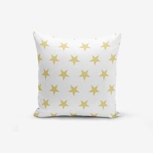 Povlak na polštář s příměsí bavlny Minimalist Cushion Covers Mustard Color Star, 45 x 45 cm